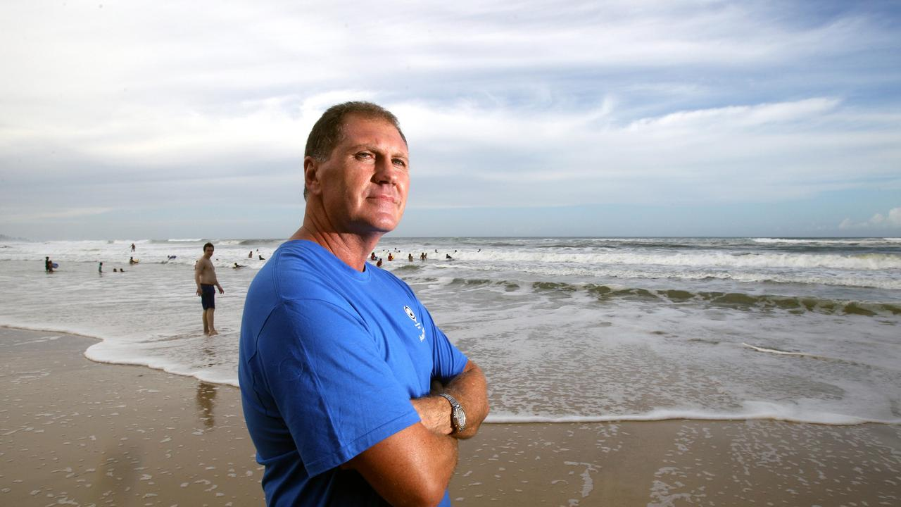 Steve Barclay, the father of Matthew Barclay, at Kurrawa Beach.