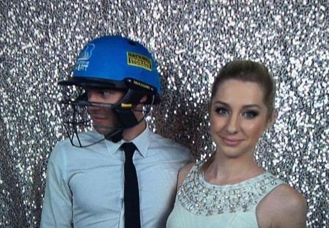 Queensland cricket coach Matt Conwell with wife Ashleigh.