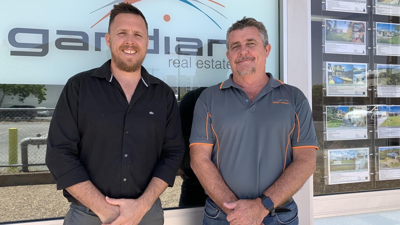 Guardian insurance brokers Luke Phillips and Jack Weston.