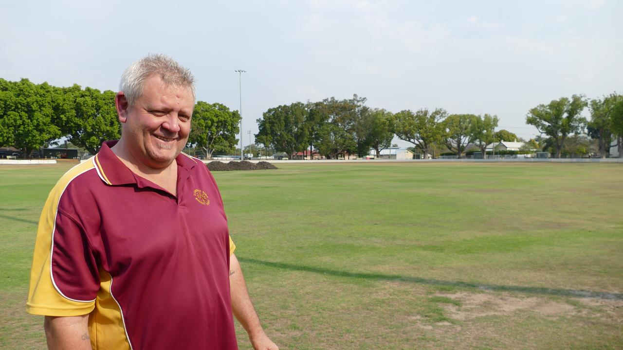 Clarence River Cricket Association president Tim Kinnane inspects works at local cricket headquarters. Kinnane said resurfacing of the ground had begun and should be complete in time for the semi-finals at the end of the season.