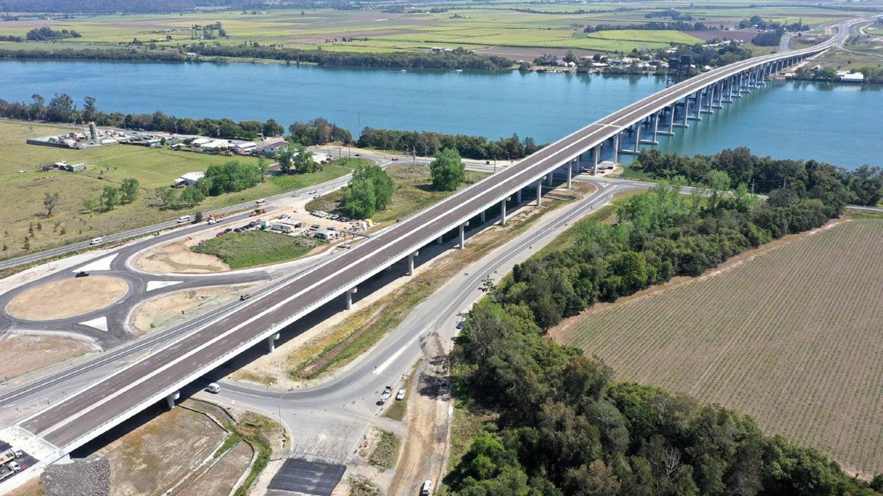 The new bridge crossing at Harwood as part of Pacific Highway Ballina to Woolgoolga upgrade.