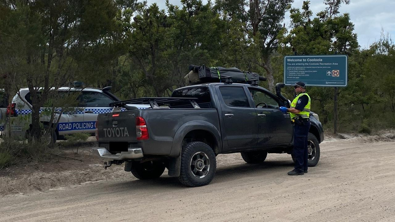 Patrols were conducted on Rainbow Beach, Freshwater Track, Leisha Track, and Teewah Beach within the Gympie Police Patrol Group.