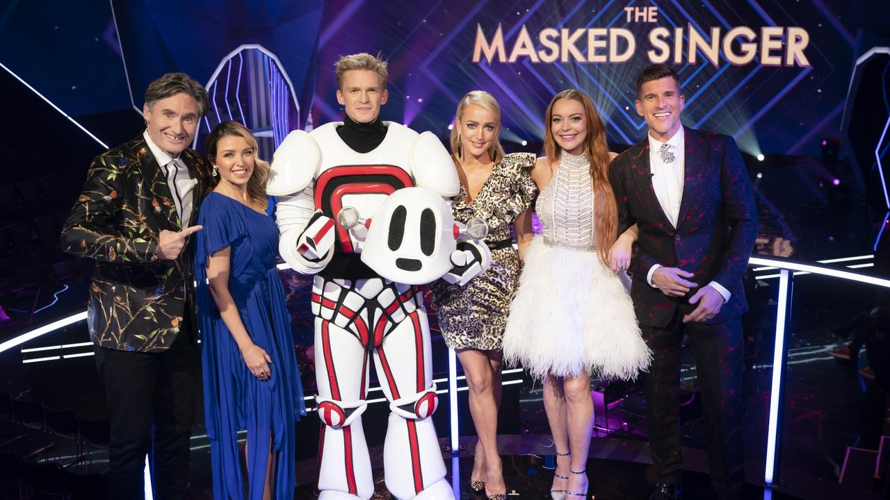 Cody Simpson won last year's Masked Singer – with Lindsay Lohan. Picture: Channel 10