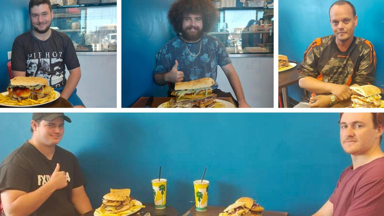 CONTENDERS: Burnett Heads Seafood and Grill have created a big burger challenge, with only one contender proving to be successful so far.