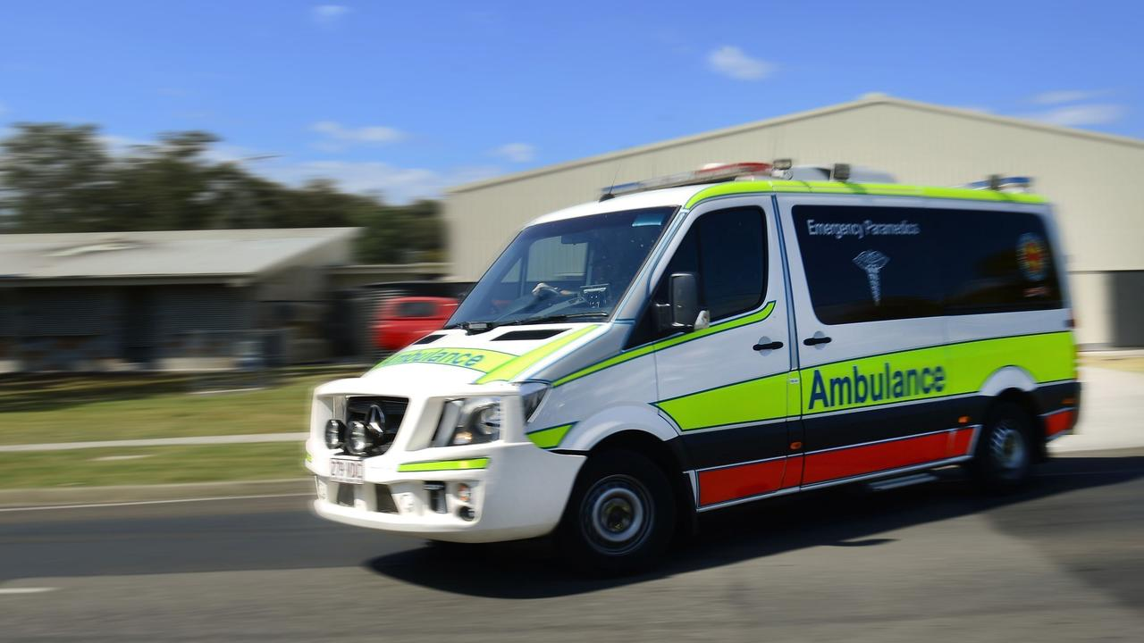 Paramedics are at the scene of a two-vehicle crash at Emerald.