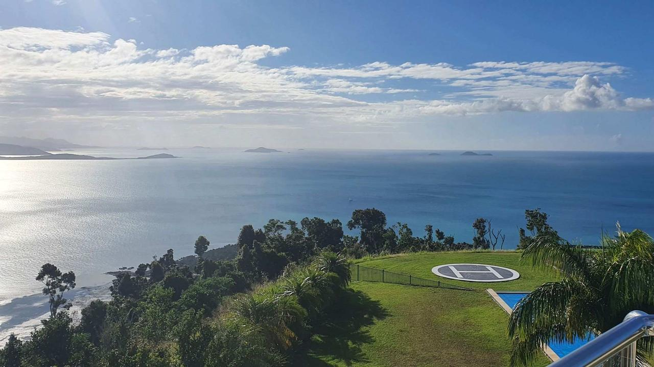 Chesapeake Whitsunday sits on a hill overlooking Airlie Beach and the islands. Picture: Supplied