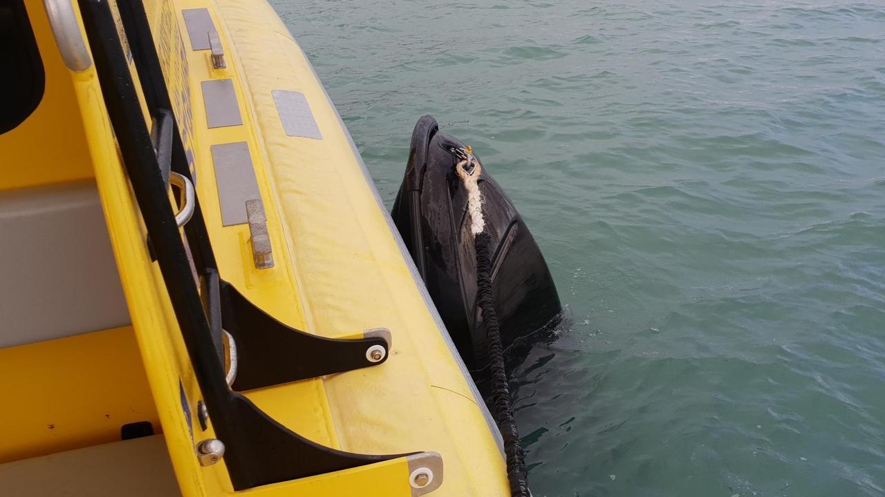 Yeppoon Coast Guard attends a capsized jetski.