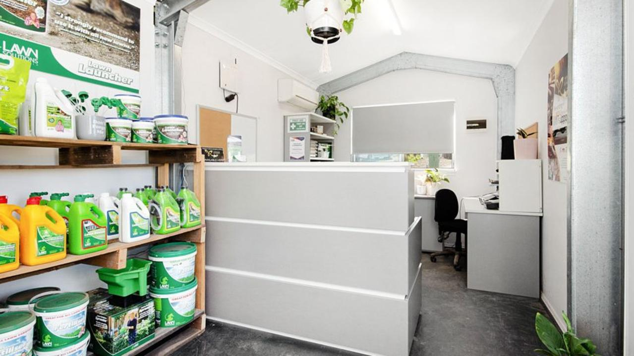Turfworks includes a retail space.