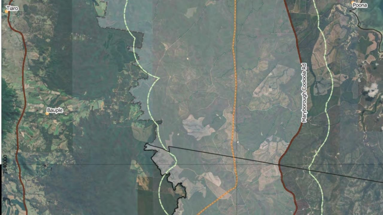 Map of proposed Toolara forest wind farm