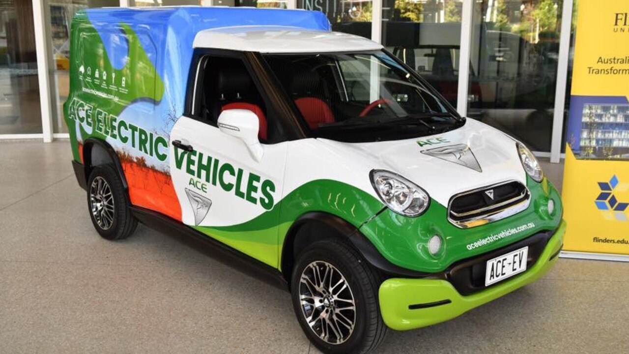 ACE-EV managing directory Greg McGarvie launched his company's first electric vehicle, the ACE Cargo Van, at the International Convention Centre in Sydney last year.