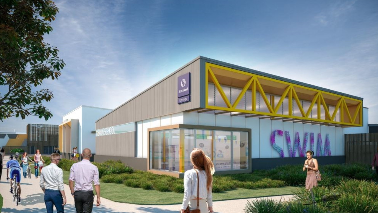 An artist's impression of the swim school that is being developed at Aura's Baringa town centre. Picture: Supplied