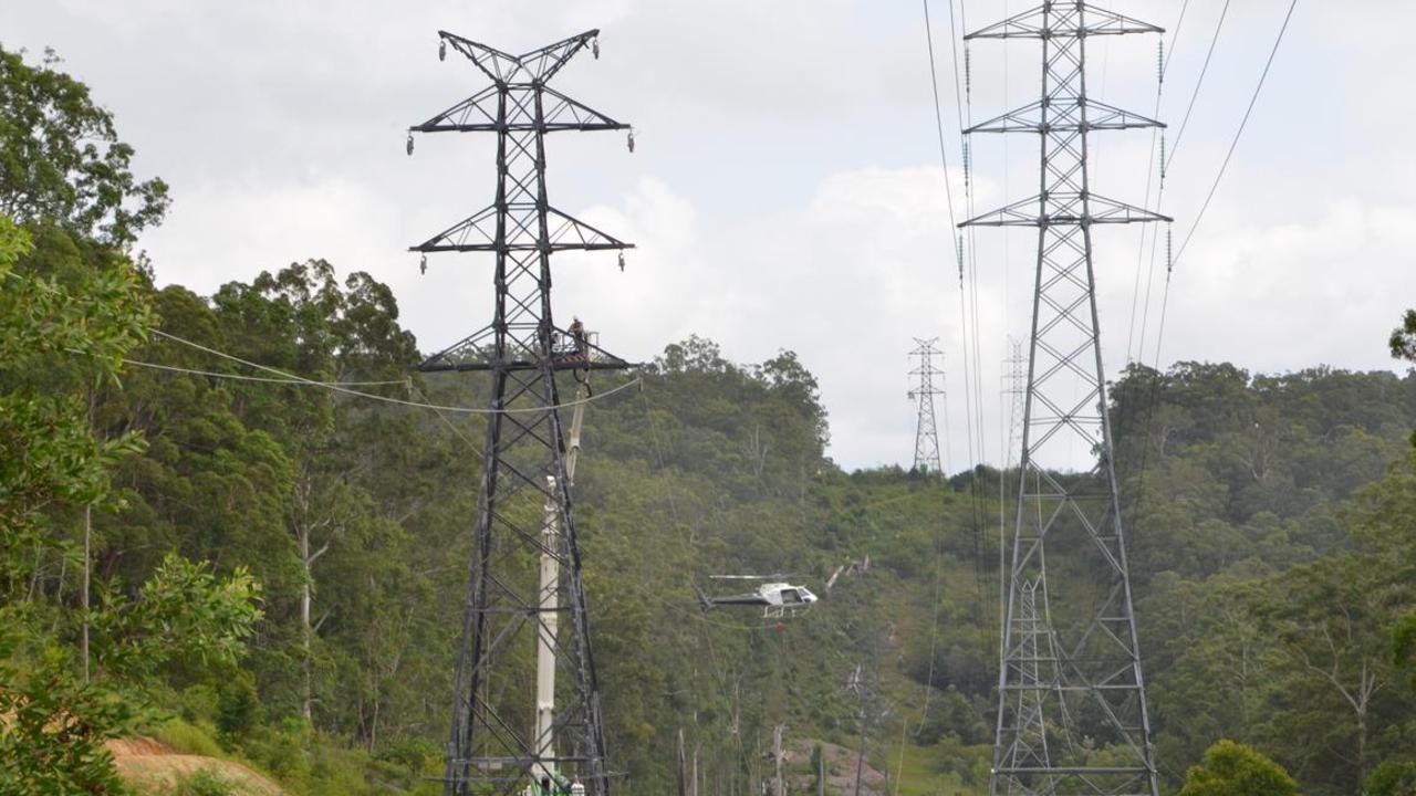 High power voltage lines through hinterland Noosa never went ahead after local protests.