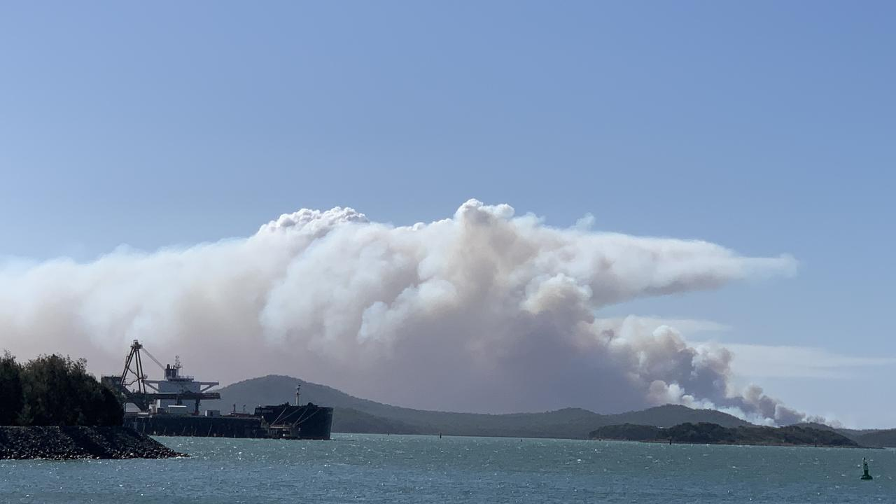 Permitted burn on Curtis Island on September 9, 2020.