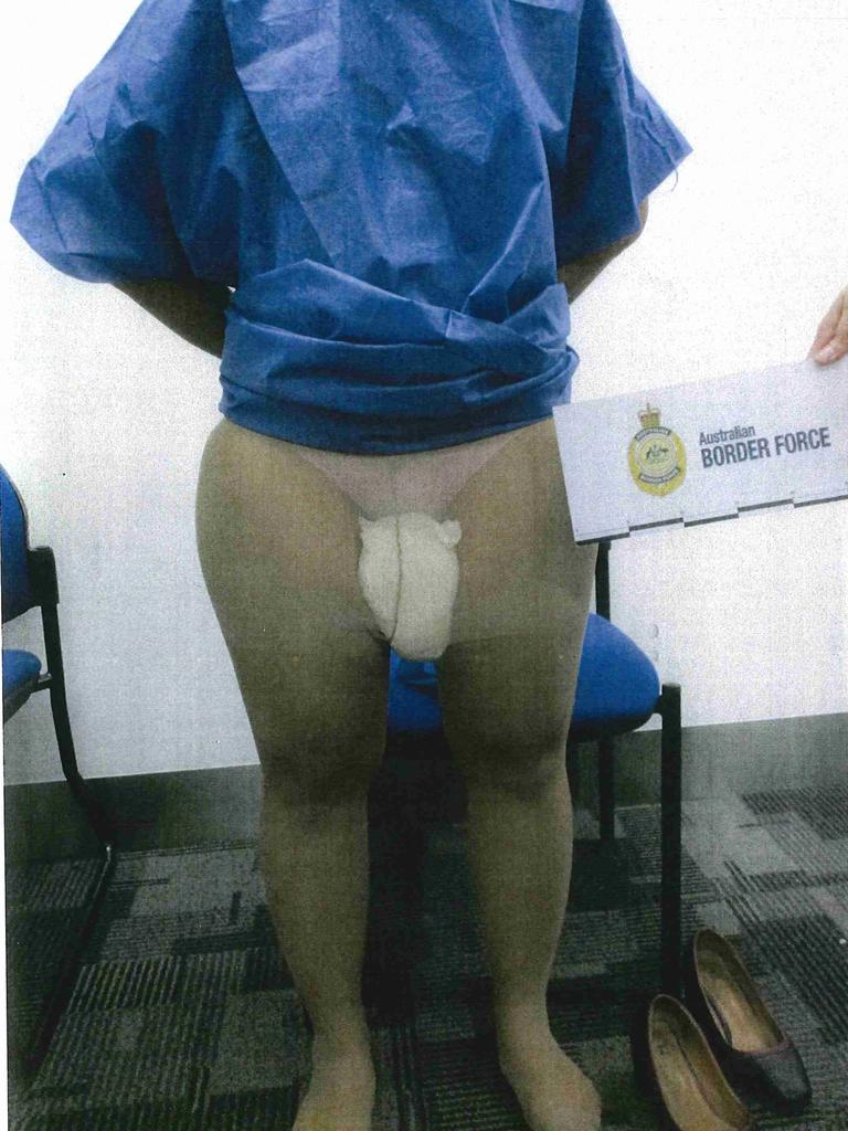 Images tendered to the court of the drugs and method of concealment.