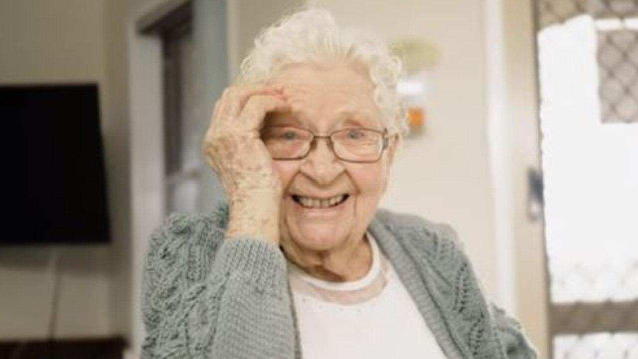Bundaberg Aged Care resident Doris Chandler received a special video of Australian singer-songwriter Emma Birdsall singing her favourite song Danny Boy.