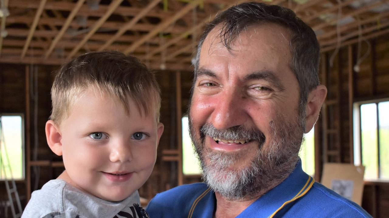 Mackay Regional Council councillor and Habana resident Laurence Bonaventura with grandson Amais Rae, 3. Picture: Heidi Petith