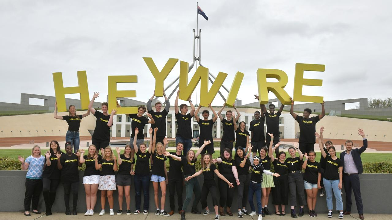 HEYWIRE: Recipients chosen to lead their community projects at the Heywire Summit in Canberra this year, with Kate Nolan ad Patrick Myer from FRRR.