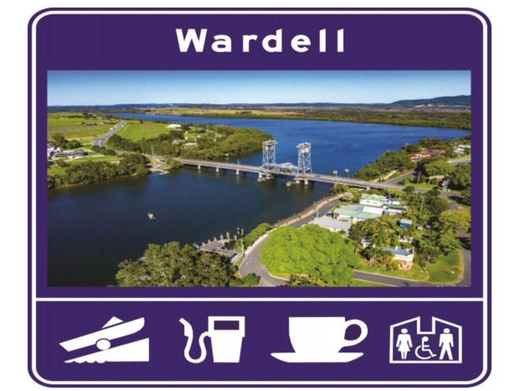 The proposed Wardell bypass sign.