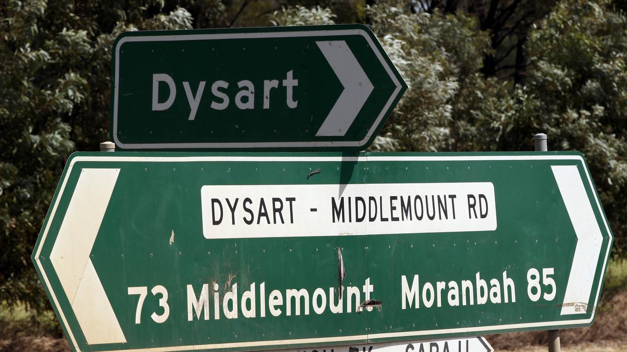 Paramedics were called to a single vehicle crash on Dysart Middlemount Rd.