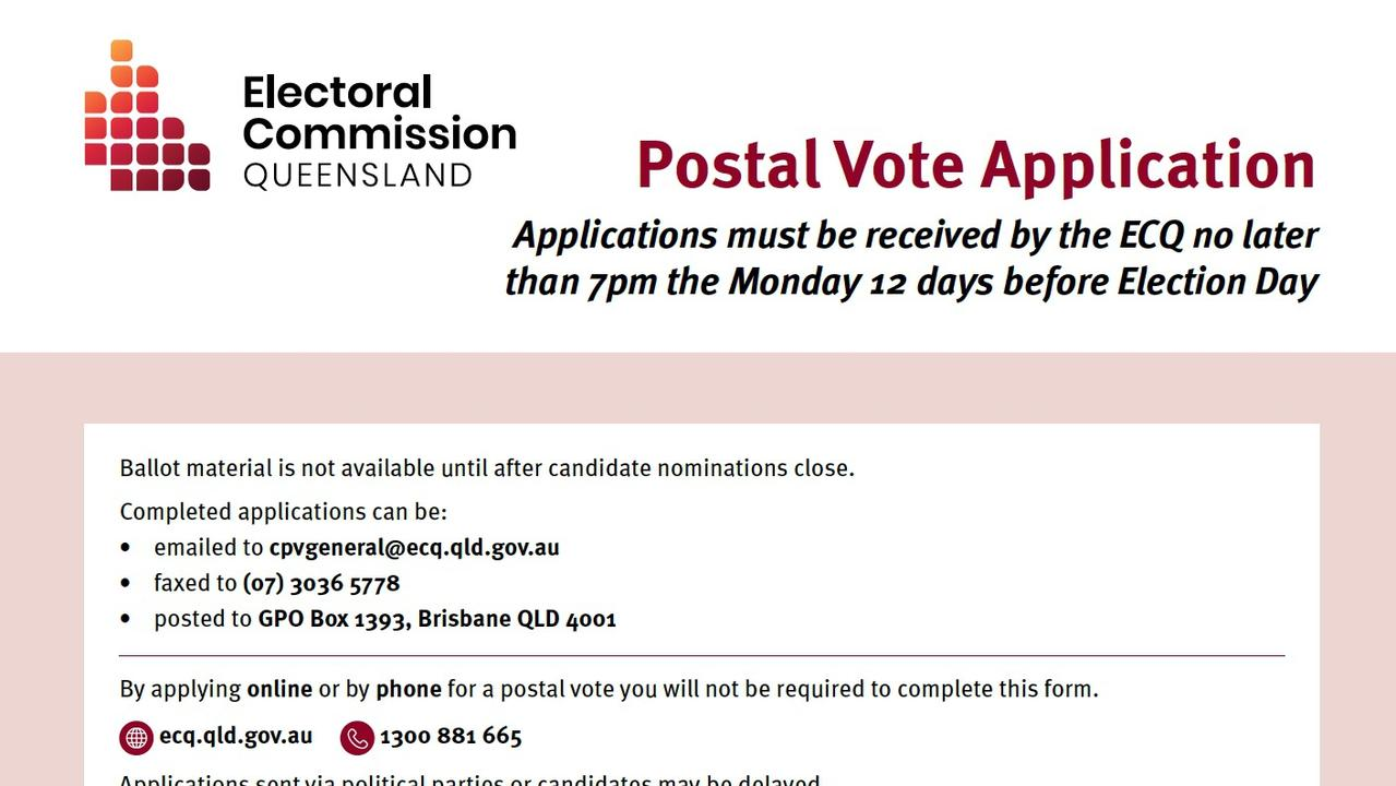 VOTING SOON: 2020 Queensland General Election postal vote applications open Monday, September 14 to ensure everyone could vote safely during the pandemic.