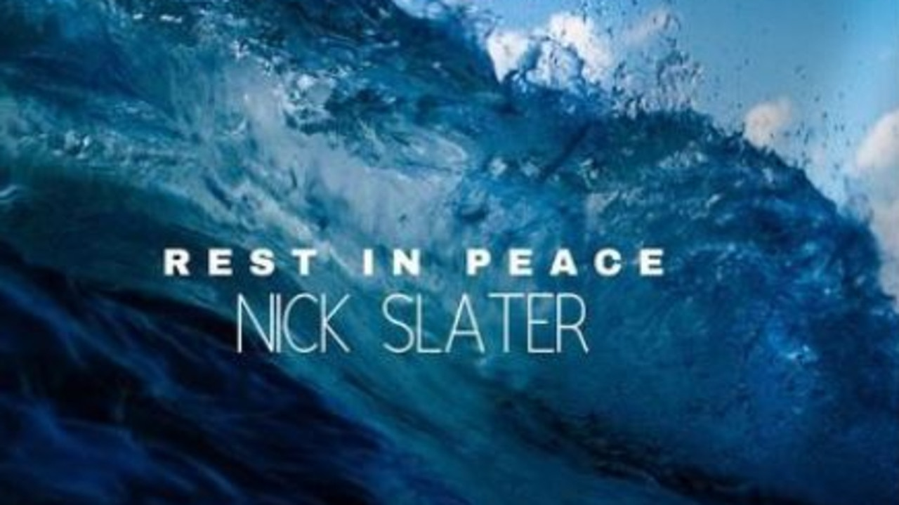 Tribute for slain shark attack victim Gold Coaster Nick Slater shared on Facebook.