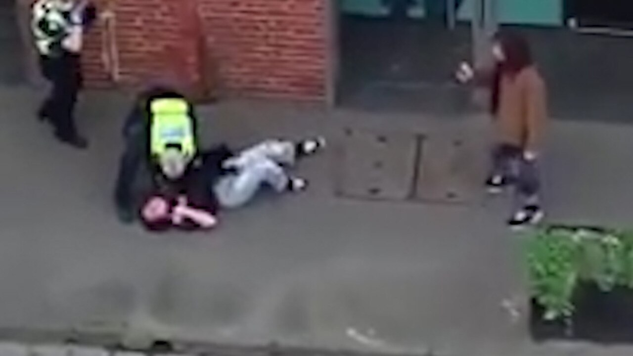Video of the arrest filmed by the woman's boyfriend and an onlooker went viral.