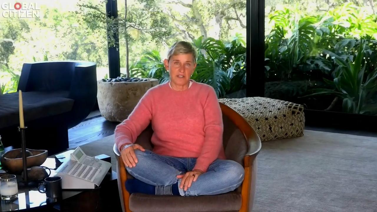 Ellen DeGeneres at home. Picture: Global Citizen