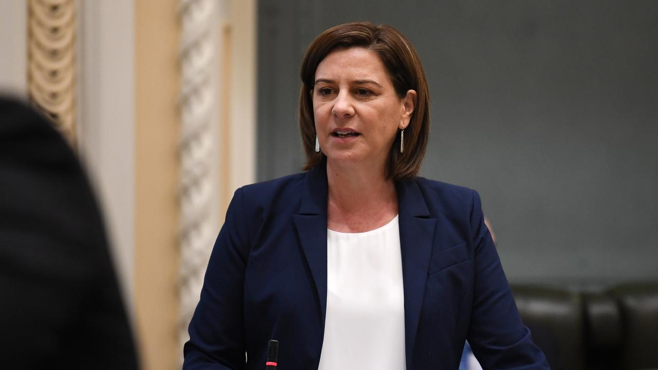 Opposition Leader Deb Frecklington speaks during Question Time at Parliament House in Brisbane. Photo: NCA NewsWire / Dan Peled