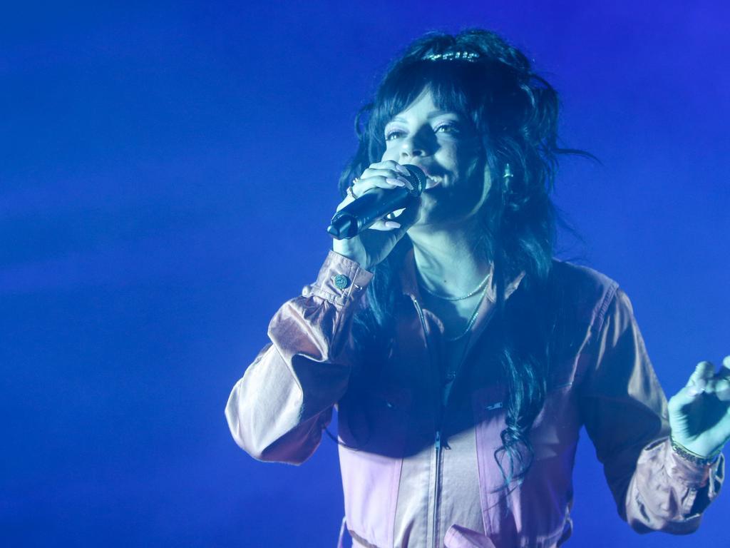 UK singer Lily Allen performing in Tasmania. Picture: Patrick Gee
