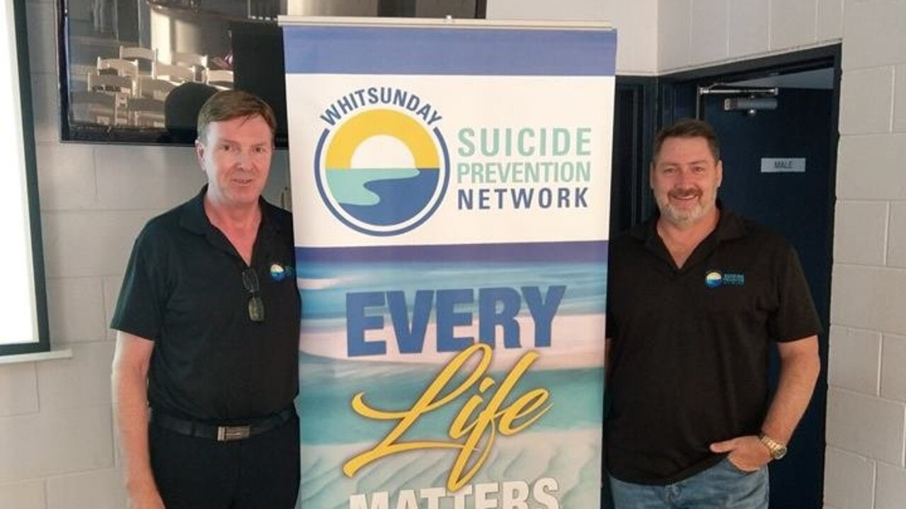 Paul Burke and Ron Petterson of Whitsunday Suicide Prevention Network.