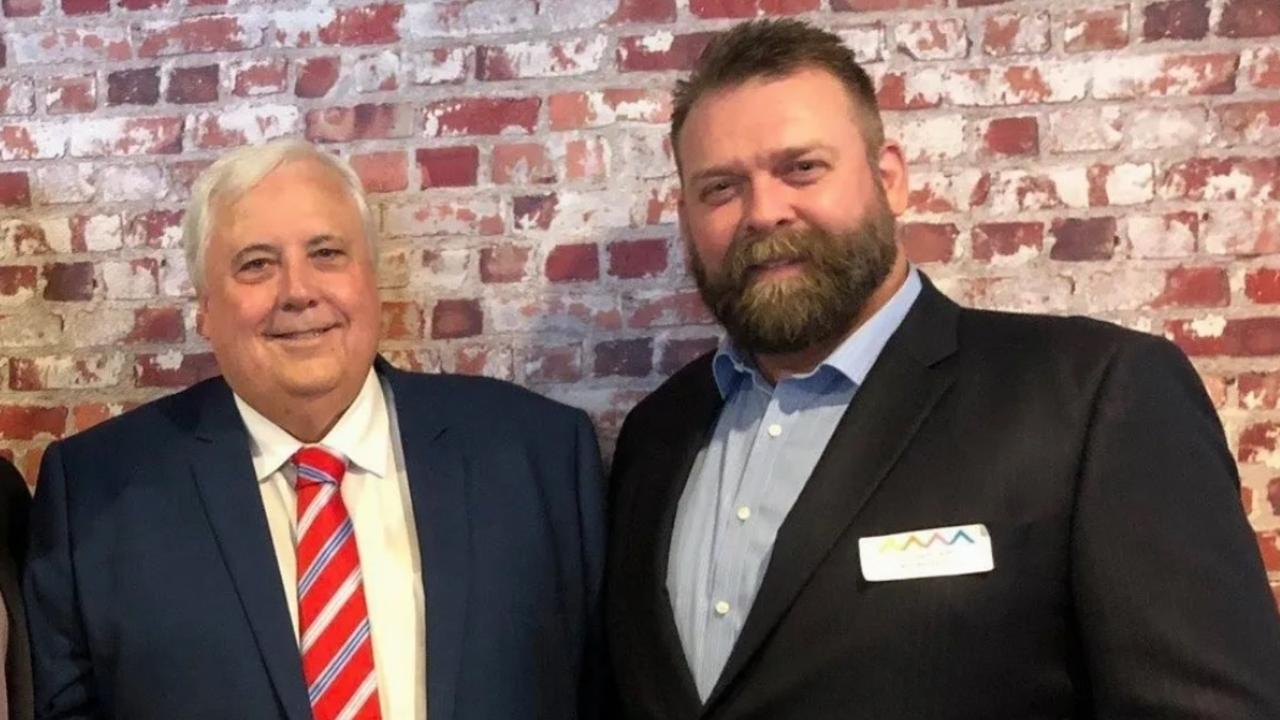 United Party Australia candidate for Lockyer Andrew Rockliff (right).