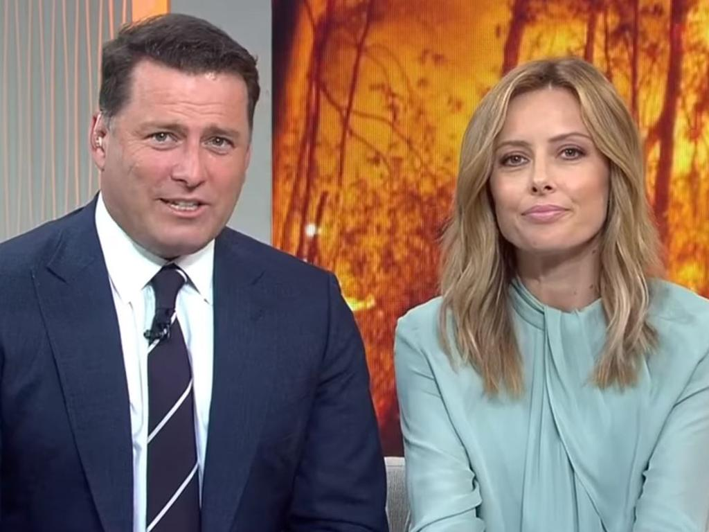 Karl Stefanovic and Allison Langdon on Today. Langdon tried to push through her struggles with becoming a new mum until a friend reached out.