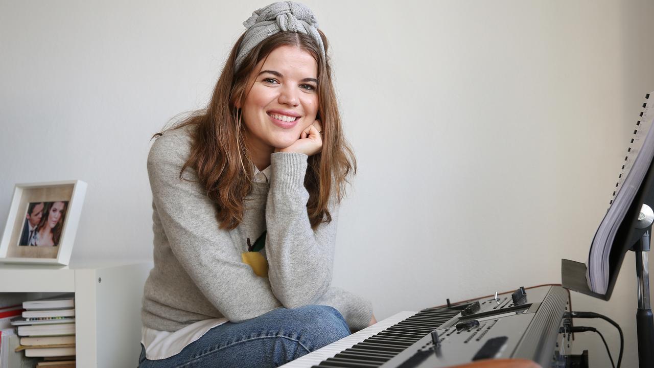 KIND GESTURE: Singer Emma Birdsall said she felt privileged to be chosen to sing to Doris. Picture: Richard Dobson