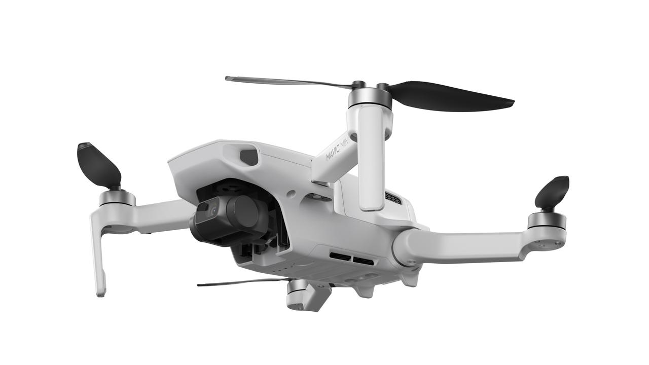 The DJI Mavic Mini drone weighs 249 grams and will not need to be registered under the new CASA laws.