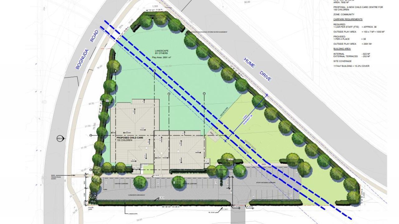 Plans for the child care centre on Bognuda St in Bundamba.