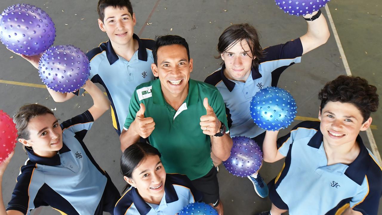 Winner of the Sunshine Coast's best teacher competion Chris Brown of St John's College, Nambour. Photo: Patrick Woods