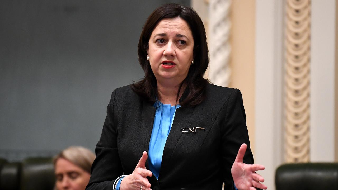 Premier Annastacia Palaszczuk in Question Time yesterday. Picture: Dan Peled/NCA NewsWire
