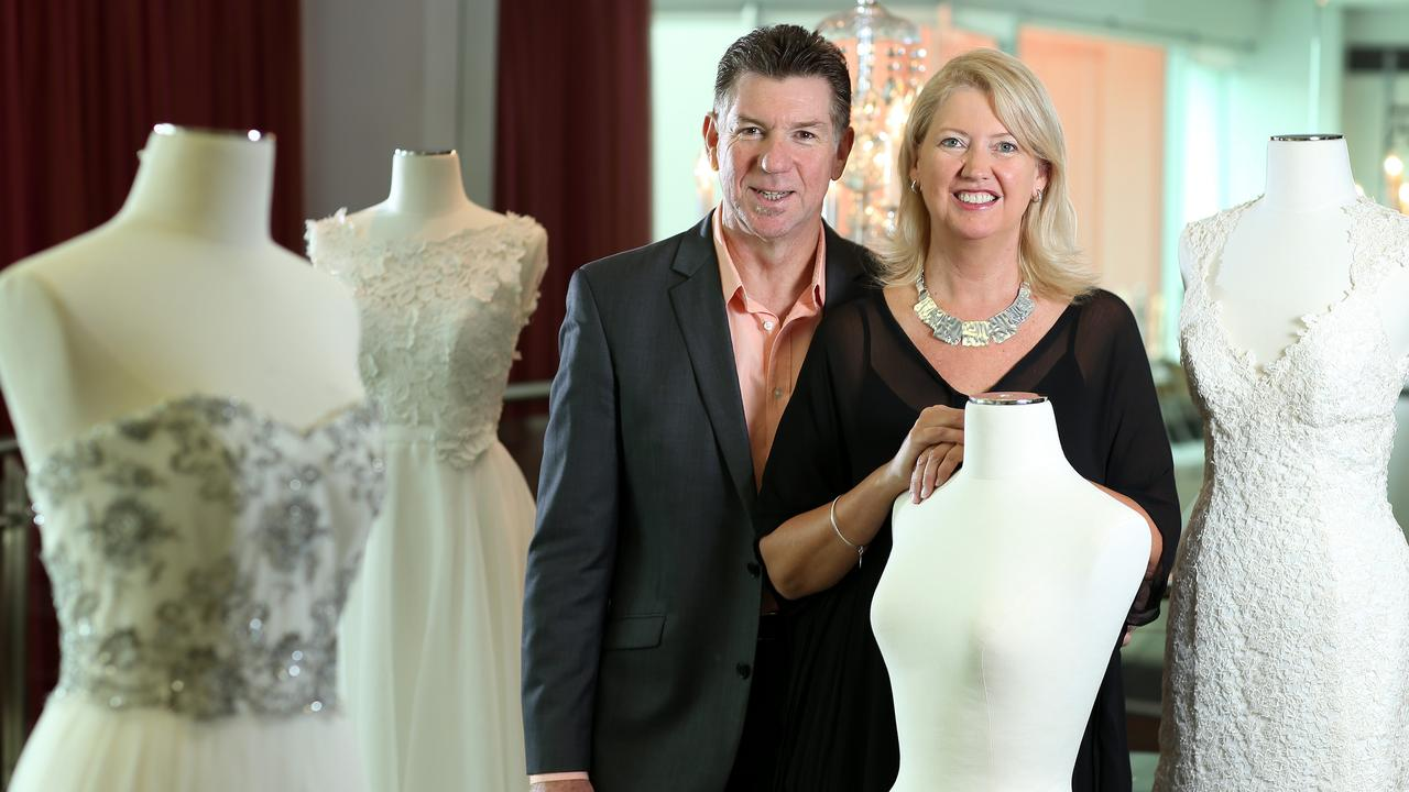 One of Australia best known bridal gown coutures has suffered a massive cashflow plunge but has managed to keep its team intact, hoping for better days ahead.
