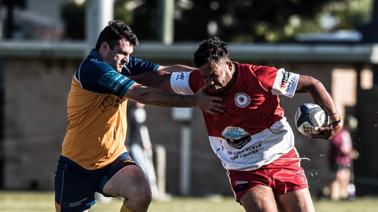 Iluka Cossacks Presidents Cup side take on SCU earlier in the 2020 Far North Coast Rugby Union season. Picture: Peter Johnson
