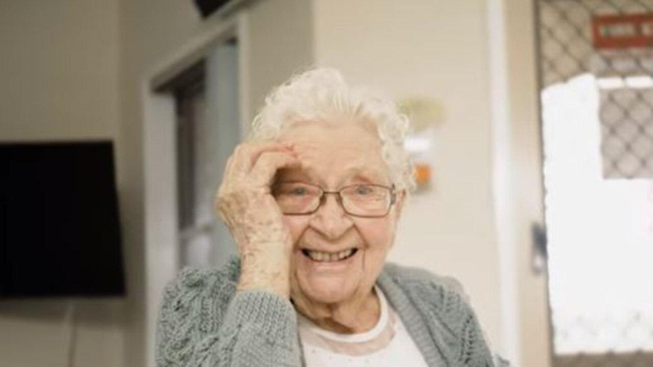 BEAUTIFUL: Bundaberg Aged Care resident Doris Chandler received a special video of Australian singer-songwriter Emma Birdsall singing her favourite song Danny Boy.