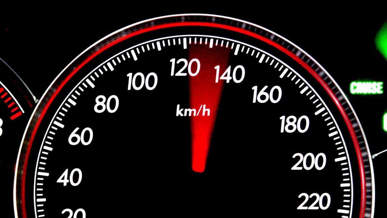 Generic tachometer photographs of high speeds. Note: Car was stationary when photographs were taken. Speed, Speeding, p plater.