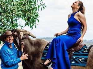 Year 12 student swaps formal partner for a bullock