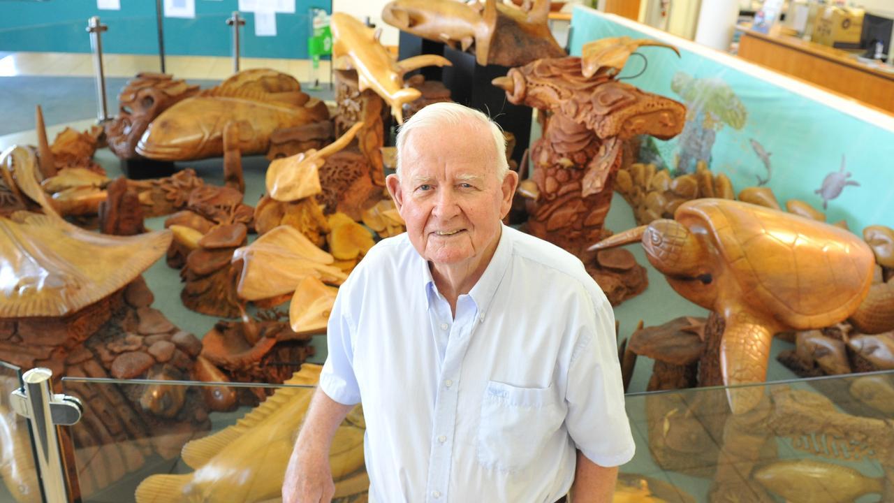 WOOD CRAFTSMAN: Renowned local artist Arthur Henry Clark AKA Nobby. Photo: Scottie Simmonds / NewsMail