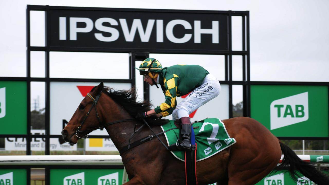 Ipswich winner Big Jake, ridden by Adam Sewell. Picture: Claire Power