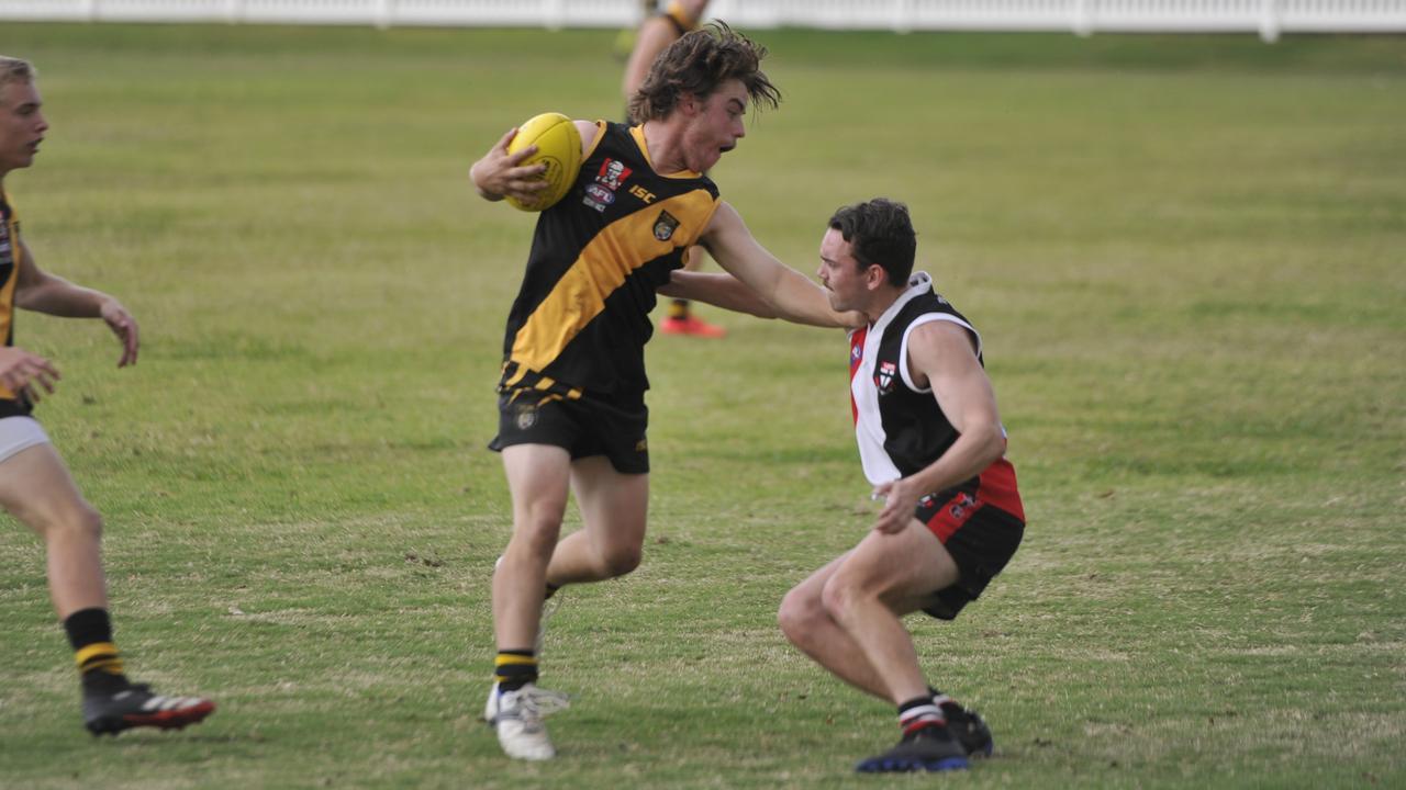 Grafton Tigers host Sawtell Toormina Saints in an AFL North Coast clash at Ellem Oval on Saturday, September 5, 2020. Photo: Mitchell Keenan