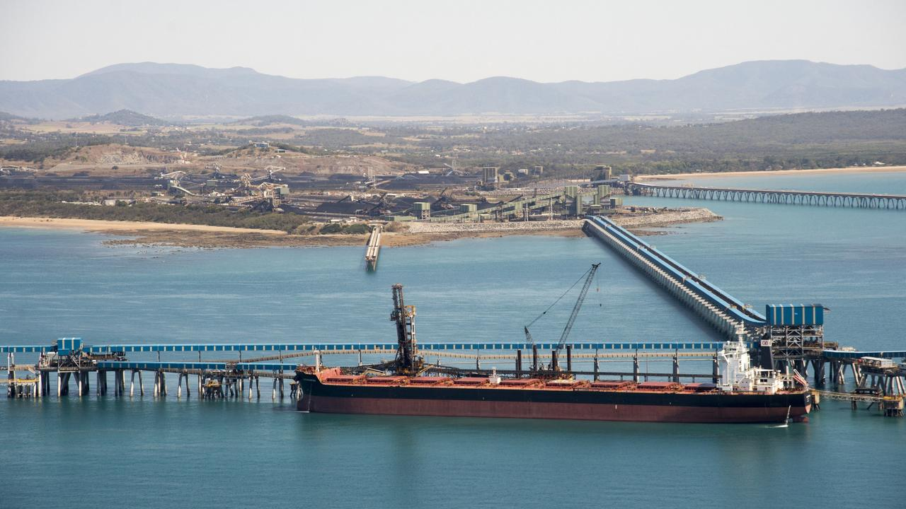 Coal ships queued up at Hay Point and Dalrymple Bay Coal loading facilities. Picture: Daryl Wright