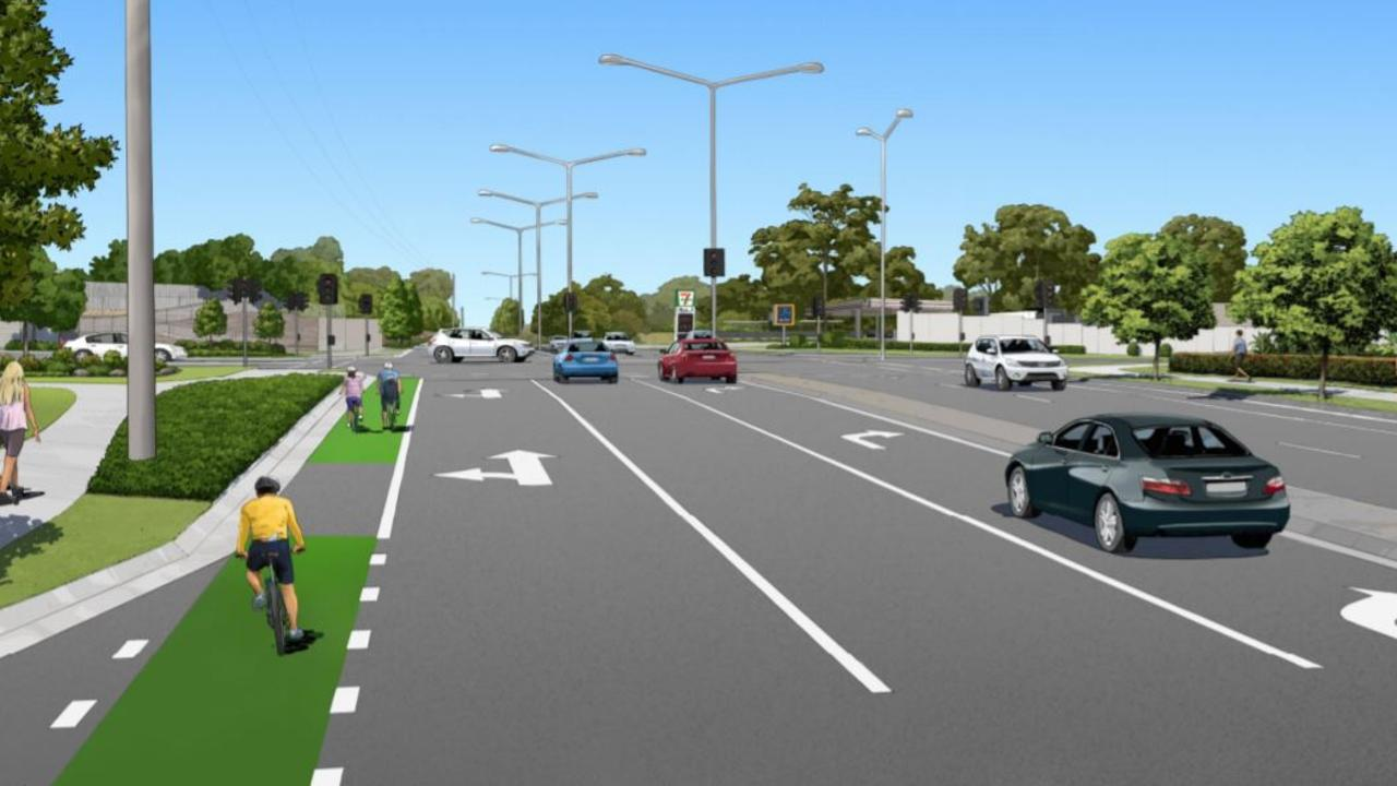 An artist's impression of what Parklands Blvd will look like once work is complete. Photo: Supplied