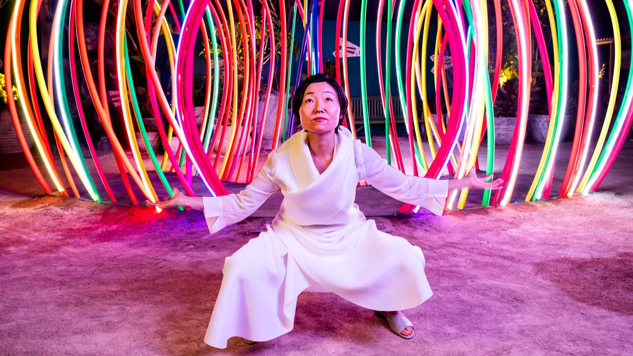 Artist Hiromi Tango seeks to bring comfort and spark joy through the magic of fluorescence in her new art installation, Brainbow Magic. Picture: Joe Ruckli
