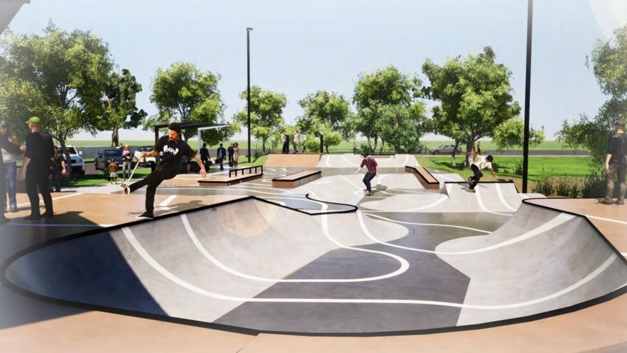 A 3D overview of what the Blackwater Skate Park is expected to look like.