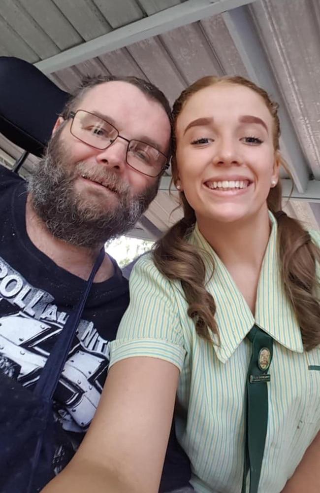 Late 'larrikin' Wayne Turner with daughter Reanna